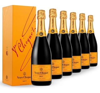 Champaña Champagne Veuve Clicquot Brut Pack Caja X6 750ml