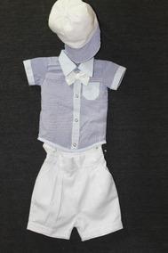 Conjunto De Camisa E Short De Bebê Com Boné