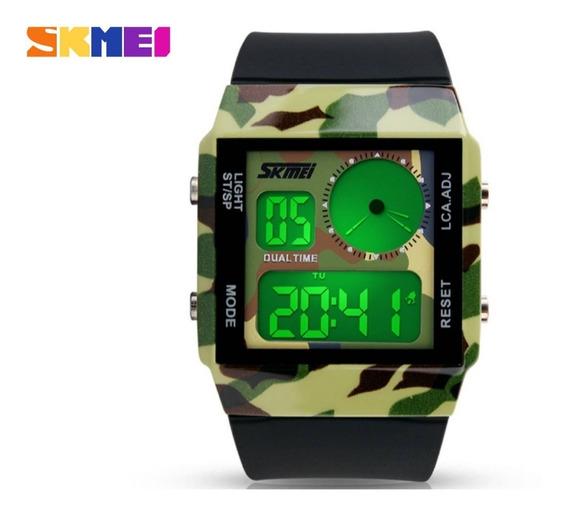 Relogio Masculino Digital Camuflado Relógio Masculino Verde