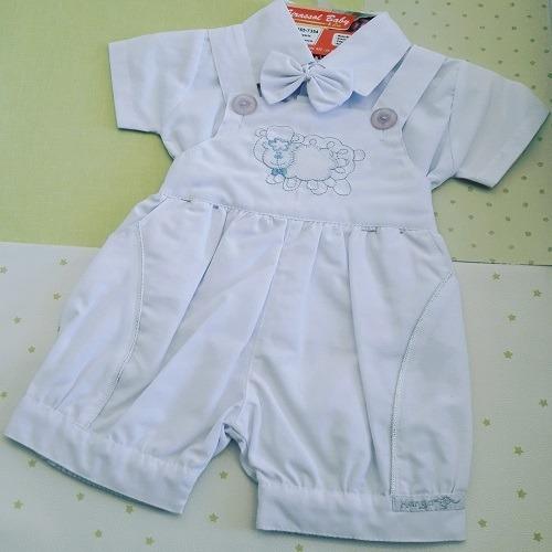 Conjunto De Batizado 3 Peças Branco Kanga