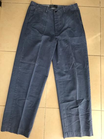 Pantalon Polo Ralph Lauren Azul Original Usado, 32x30