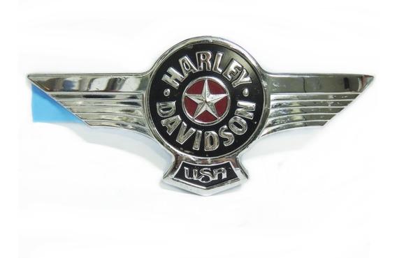 Emblema Adesivo Direito Cromado Tanque Harley Davidson