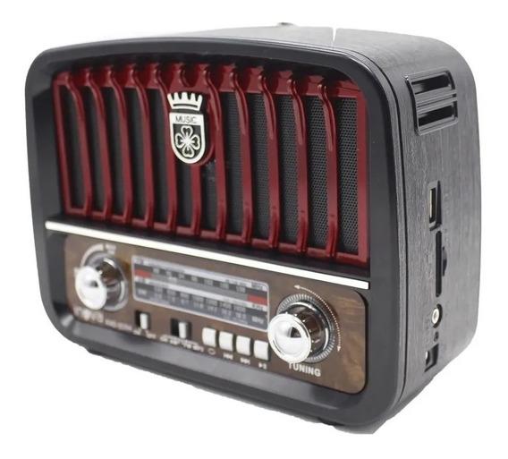 Radio Inova Rêtro Mp3 Com 3 Bandas Bivolt Com Entrada Usb