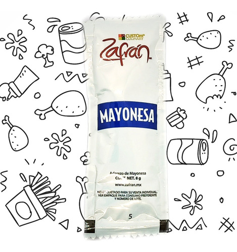 Mayonesa Zafran De 8g Caja Con 204 Pzs