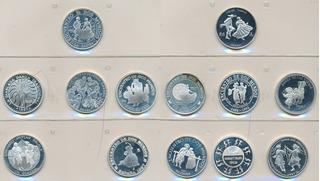 3ª Serie Iberoamericana 1997 (monedas+ Medalla) En Expositor