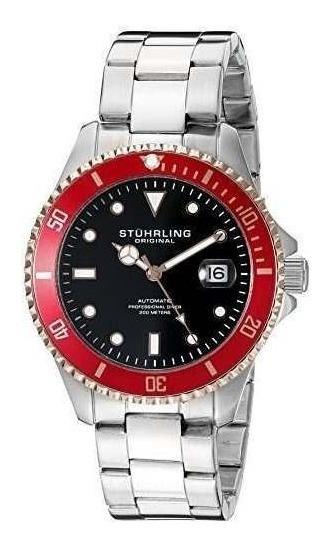 Stuhrling Original Para Hombre 792.04 Aquadiver Pantalla Ana