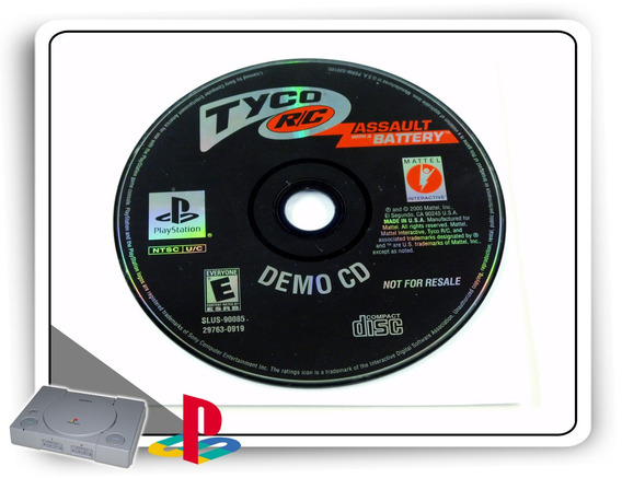 Tyco R-c Assault With A Battery Original Playstation 1 Ps1