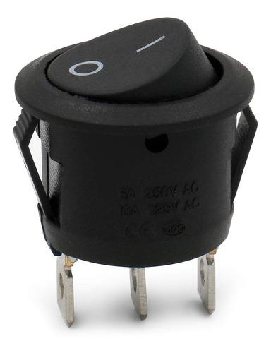 Switch O Interruptor Circular 6a/250vac 10a/125vac 3 Pines