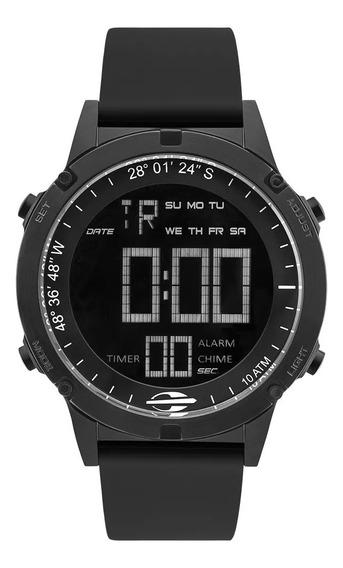 Relógio Masculino Digital Preto Mormaii Pulseira Silicone
