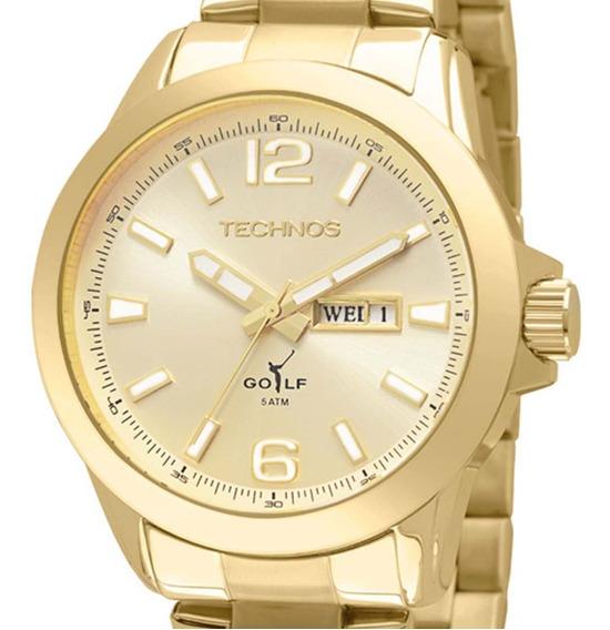 Relógio Technos Masculino Classic Golf Dourado 2105au/4x + Nota