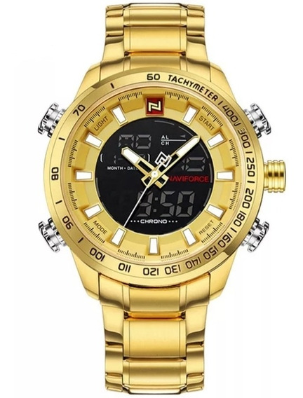 Relógio Naviforce 9093 Original Luxo Elegante