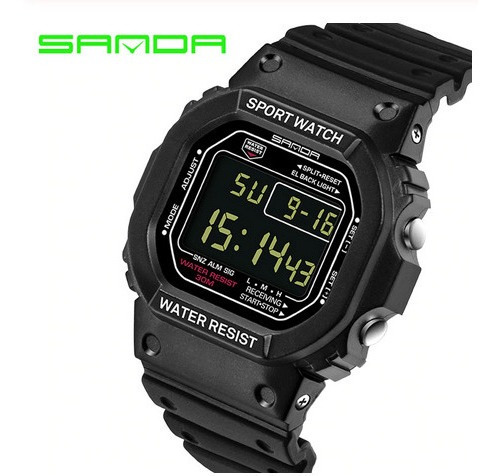 Relógio Digital Sanda Similar Cassio G Shock Dw5600