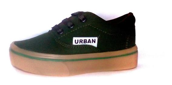S.e.x.o. Tenis Urban Verde, Lona #15,16,17 Unisex, Comodos