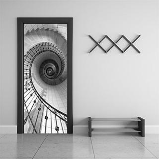 Casefan 303x787 Espiral Escalera Mural De Pare