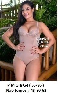 Cinta Modelador Redutor Body 36 40 42 46 48 50 52 54 Plus Si
