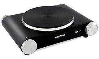Cusimax Estufa Electrica Portatil Individual 1500w Negro
