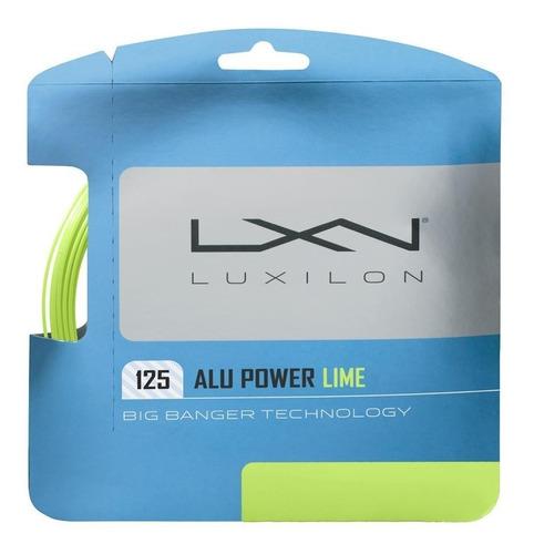 Set Cuerda Luxilon Alu Power Lime 1.25 Made In Belgica 12 Mt