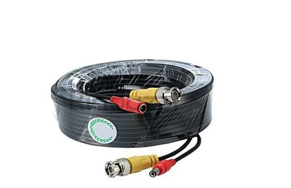 Cable Coaxial Armado Para Cámaras Cctv , 18mts