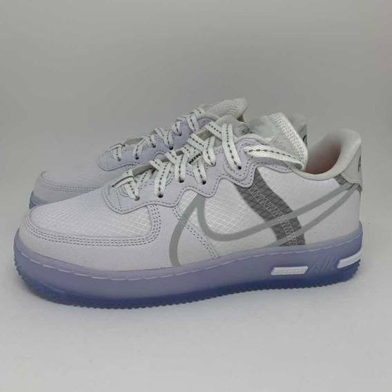 Tênis Nike Air Force 1 React White Light Bone 38 Br / 7 Us.