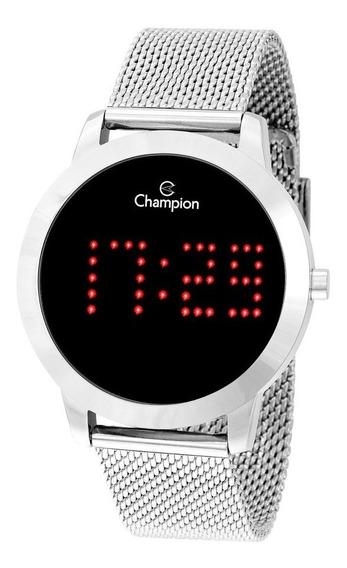 Relógio Champion Feminino Digital Prata Led Barato Original