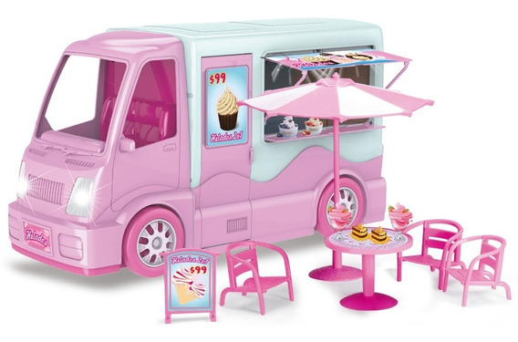 Camion Van De Dulces Con Luz Y Sonido Y Acces Para Muñecas