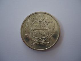 Moeda Níquel 100 Soles Oro Ouro 1980 República Peru
