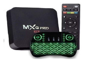 Kit Aparelho Conversor Smart Box Tv 16gb + Teclado Iluminado
