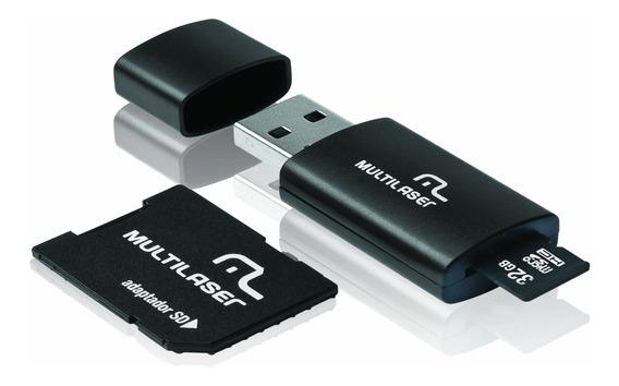 Adaptador Memoria Sd Micro 64gb Adp+pn Cl10 Multilaser