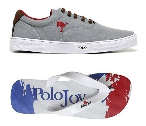 Tenis Polo Original Sapatenis Masculino Lançamento Chinelo