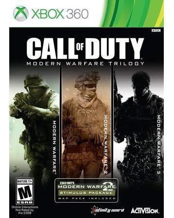 Jogo Xbox 360 Mídia Digital 5 Jogo Call Of Dutty Coleção