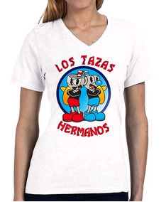 Camiseta Cuphead Mugman Los Pollos Hermano Breaking Bad 3787