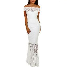 Vestido De Fiesta Blanco Sirena.