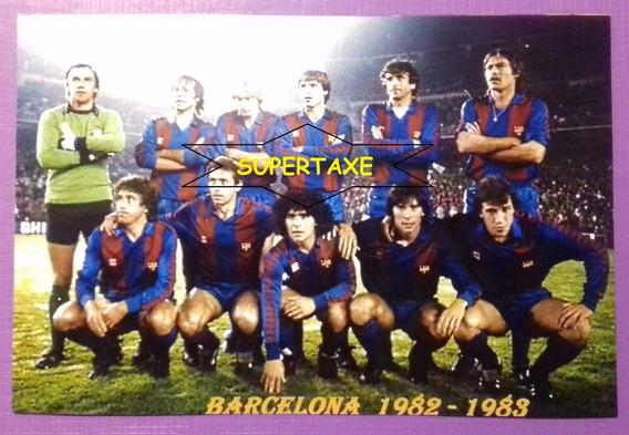Foto 10 X 15 Color Fc Barcelona 1982/83 Maradona