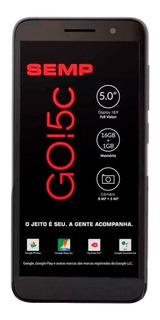 Celular Semp Go 5c Tela 5 4g Mem 16gb, Camera 8mp E 5mp