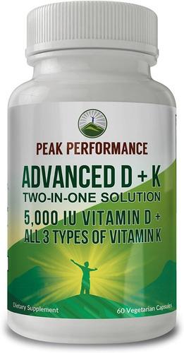 Peak Performance Vitamina D+mk7 Apoyo Sist Inmunol 5000ui