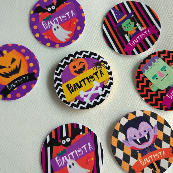 Grafica Impresa Kit Candy Bar Halloween Stickers 20 Unidades