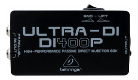 Di400p Direct Box Passivo Behringer Ultra Di-400p Di 400 P