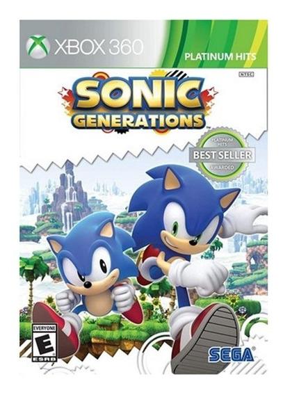Jogo Sonic Generations - Xbox 360 - Original - Física - Novo