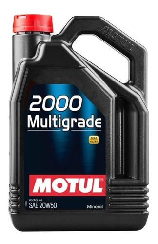 Imagen 1 de 6 de  Motul 2000 20w50 Multigrado 4 Lt Mineral Aceite Motor Nafta