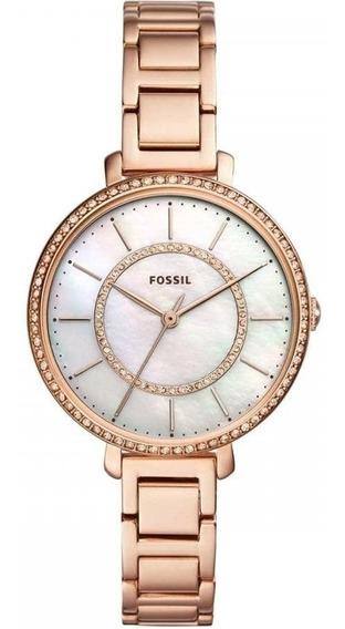 Relógio Fossil Feminino Ref: Es4452/1jn Fashion Rosé