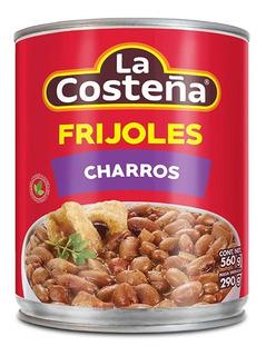 Frijoles Charros La Costeña Tocino/chicharrón/chorizo 560 Gr