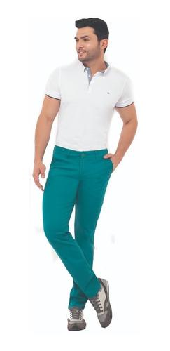 Imagen 1 de 2 de Pantalón En Dril Lycrado Hombre Bota Regular