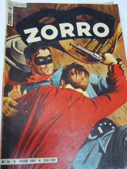 Zorro Nº 41 De 1957 Ebal Coleção Gibi Raro Antigo Excelente