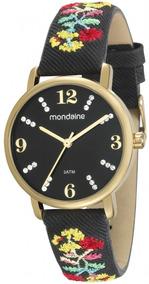Relógio Feminino Mondaine Pulseira Bordada - 99214lpmvdh2