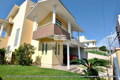 Linda Casa No Jardim Cidade De Florianópolis Com 230m² De Área - 3807