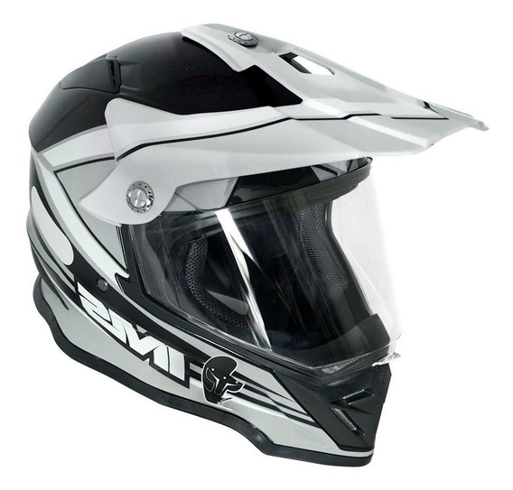 Capacete Cross Ims Light Cinza Preto Com Viseira Enduro