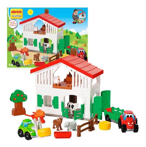 Set Super Granja - Incluye Animales Y Vehículos - Abrick