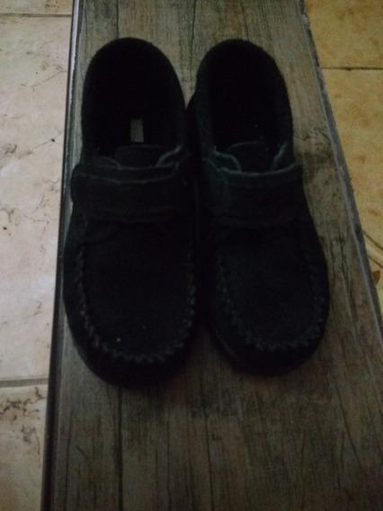 Zapatos Negros De Gamuza Talle 27