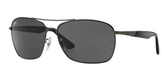Oculos Sol Ray Ban Rb3531 041/87 64mm Grafite Lente Cinza