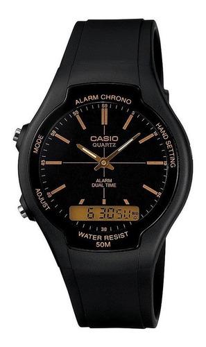 Reloj Casio Hombre Aw-90h Negro Analogo / Lhua Store